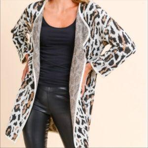 Doe & Rae Leopard Cardigan